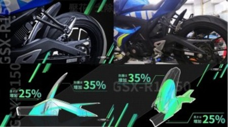 MOS カーボンルック リアフェンダー【GSX-R 125/150】【GSX-S 125/150】