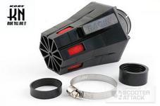 STR8 ノーマルキャブ用【STR8】汎用パワーフィルター 45度 【ブラック】