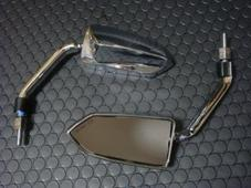 BCD バックミラー 左右セット 8mm 10mm 共通タイプ 【メッキ】