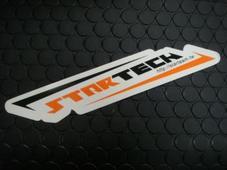 STARTECH ステッカー大 【ブラック/オレンジ】37mm*200mm