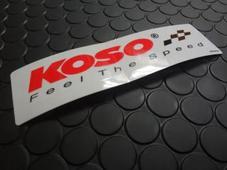 KOSO ステッカー 【クリアー】25mm×120mm