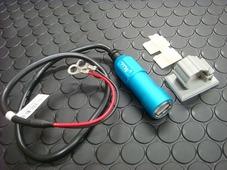 車載用 USB電源ユニット 【アルミボディー/ブルー】