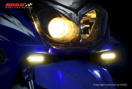 KOSO LEDフロントデイライトキット/BW'S125 2型【BG1】/BW'S R【2JS】スモークレンズ/オレンジ