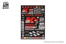 KN & KOSO コラボレーションステッカーキットL 【500mm×350mm】
