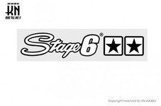 STAGE6【ステッカー】Stage6 logo white 【250mm-45mm】