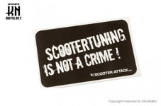 STAGE6【ステッカー】SCOOTERTUNING IS NOT A CRIME【63mm-10.5mm】
