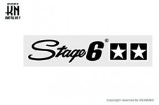 STAGE6【ステッカー】Stage6 logo black 【250mm-45mm】