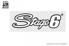 STAGE6【ステッカー】Stage6 logo white 【200mm×60mm】