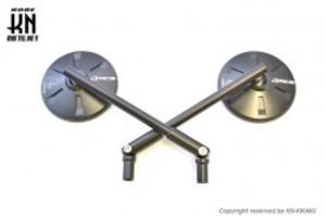 RCB ALLOYバックミラー【アルミCNCバックミラー,左10mm正,右10mm逆ネジ】セット