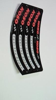 KOSO リムステッカー 黒 12,13 インチ用