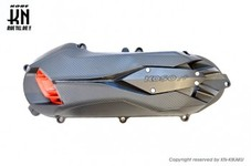KOSO軽量クランクケースカバータイプ2 【ブラック/レッド】シグナスX4型/5型/BWS125