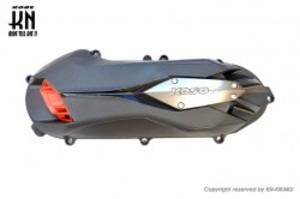 KOSO軽量クランクケースカバータイプ2 【グレー/レッド】シグナスX4型/5型/BWS125
