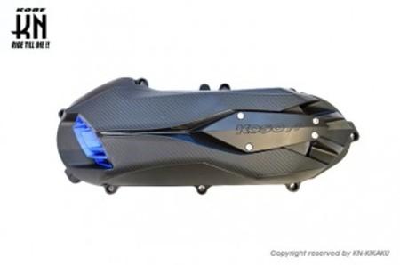 KOSO軽量クランクケースカバータイプ2 【ブラック/ブルー】シグナスX4型/5型/BWS125