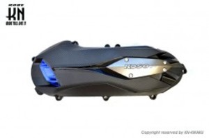 KOSO軽量クランクケースカバータイプ2 【グレー/ブルー】シグナスX4型/5型/BWS125
