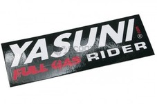 YASUNI【ステッカー】Full Gas Rider【110mm×38mm】