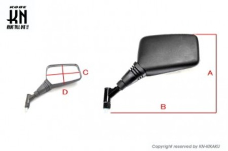 PCZミラー【ブラック】左右10mm正ネジセット
